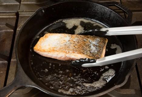 Salmon Stove Flip
