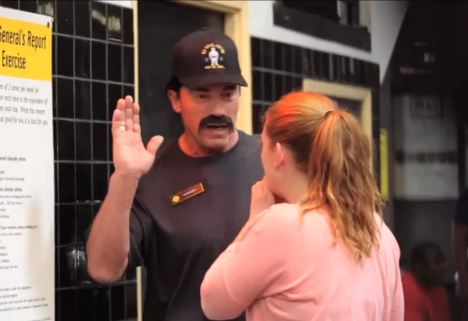 Arnold Schwarzenegger Pranks Gymgoers in a Wig and Moustache [VIDEO]