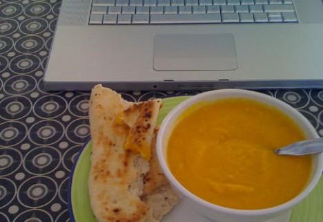 Soup at Computer