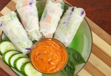Recipe: Spring Rolls with Red Curry Dipping Sauce