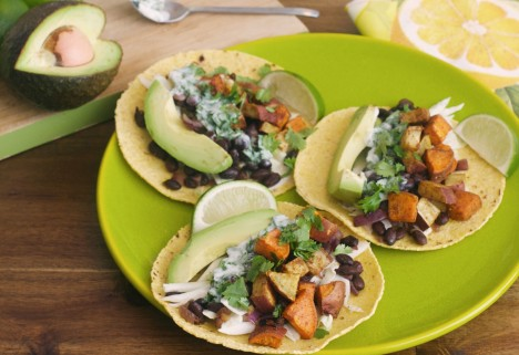 Spicy Sweet Potato and Black Bean Tacos