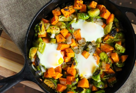 Breakfast Recipe: Sweet Potato and Brussels Sprouts Hash