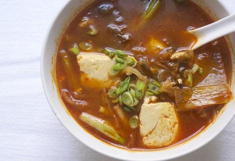 Recipe: Silken Tofu and Kimchi Soup