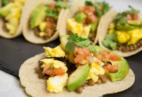 Breakfast Tacos With Lentils