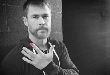 Chris Hemsworth Paints Nails to Raise Awareness About Child Abuse
