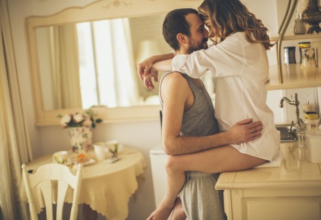Couple Getting It On In the Kitchen