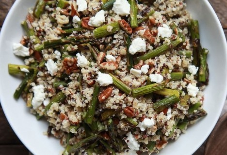 Goat Cheese and Asparagus Quinoa Salad