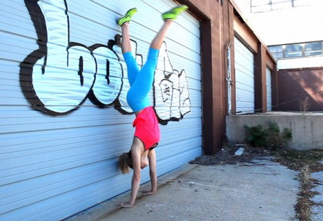 Greatist Workout of the Day: Handstand Kick-Up
