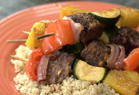 Hawaiian Beef Kebabs