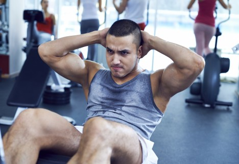 Sweaty Man at Gym
