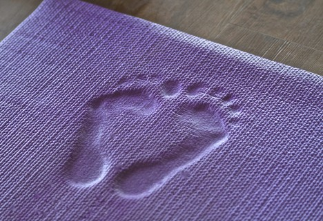 Yoga Mat with Feet Indentations