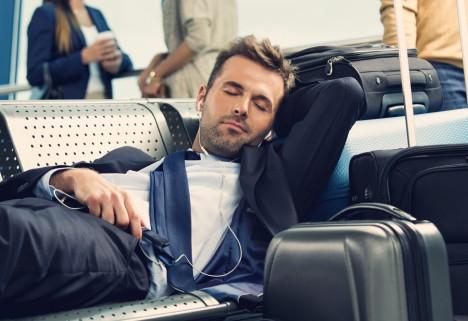 Sleeping at Airport