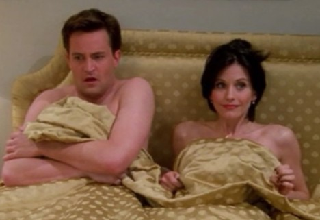 monica and chandler in bed