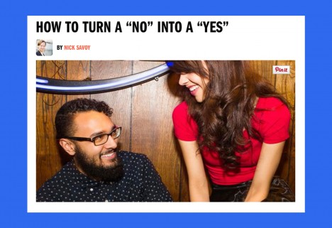 Men's Fitness: Turn a 'No' Into a 'Yes'