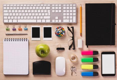 perfectly organized desk