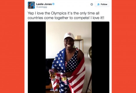 Leslie Jones Is All of Us Watching the Olympics