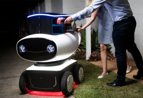 Domino's Robot Delivering Pizza