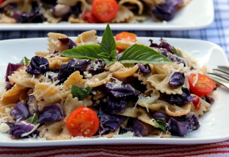 Recipe: Whole-Wheat Farfalle with Cabbage and Pepper
