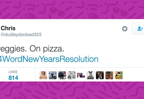 People are Tweeting 4-Word New Year's Resolutions You Can Actually Keep