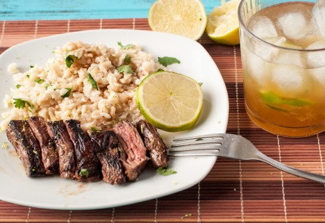 Recipe: Skirt Steak and Coconut Lime Rice