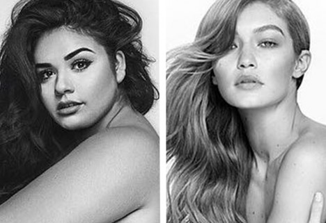 Plus-Size Model Recreates Gigi Hadid Ad