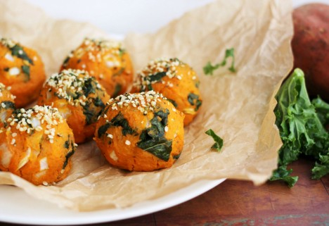 Sweet Potato Kale Balls
