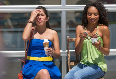What Causes Brain Freeze: Woman Eating Ice Cream