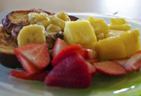 Rum-glazed Banana French Toast