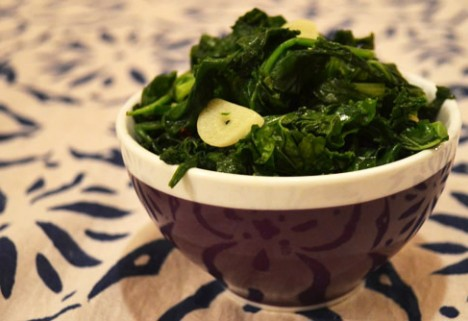 Hearty Greens With Garlic