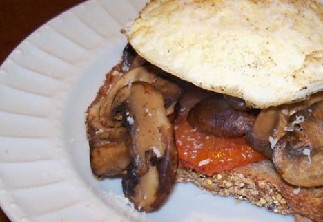 Open-Faced Egg and Veggie Sammie