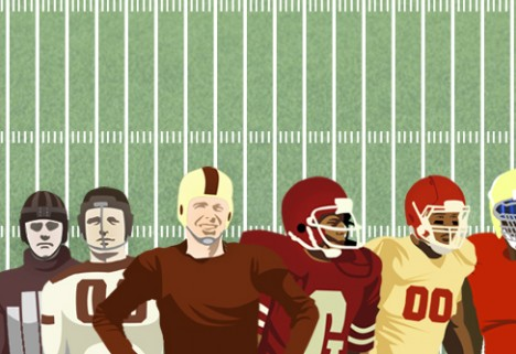 The Evolution of the Football Helmet [Infographic]