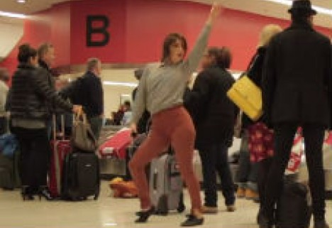 What If You Danced Like Nobody's Watching at Baggage Claim? [Video]