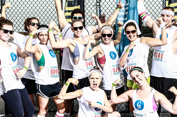 Color Run Greatist Team Guns