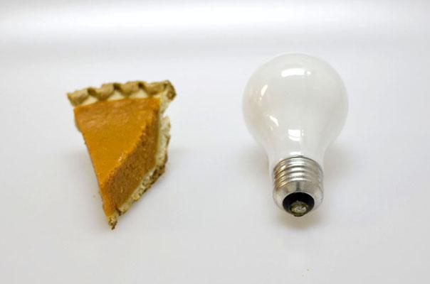 Pumpkin Pie and Light Bulb