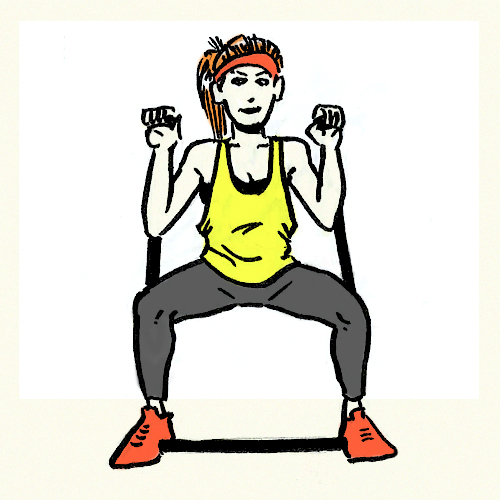 Resistance Bands Meaning: Resistance Band Front Squat